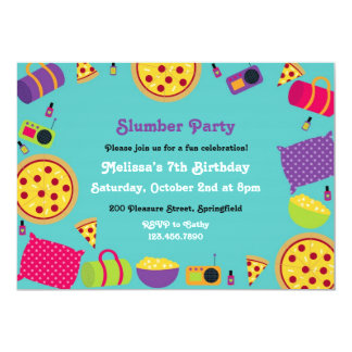 Slumber Birthday Party Flat Invitation
