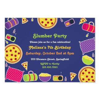"Slumber Birthday Party Flat Invitation 5"" X 7"" Invitation Card"