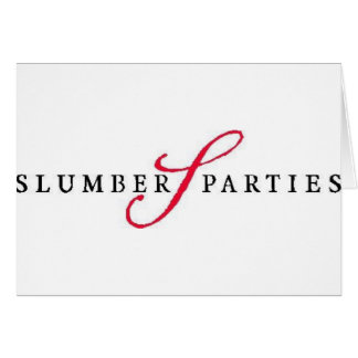 Slumber Parties Logo Promotional Parties Card