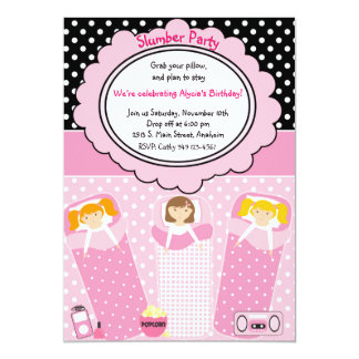 Slumber Party 13 Cm X 18 Cm Invitation Card