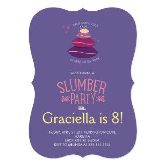Slumber Party Birthday 13 Cm X 18 Cm Invitation Card