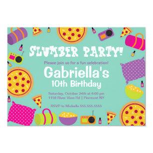 10th birthday invitations zazzle slumber party fun birthday invitation filmwisefo