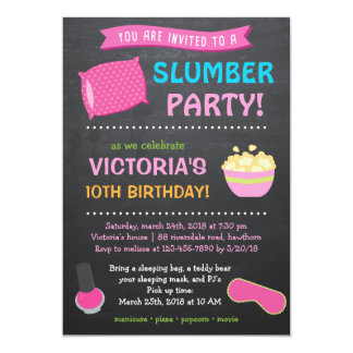 Slumber Party Invitation / Sleepover Invitation
