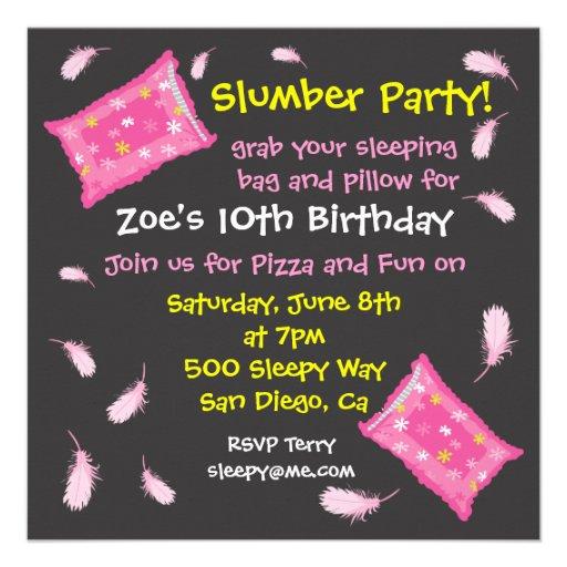 Slumber Party Pillow Fight Invitation
