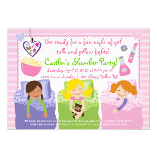 SLUMBER PARTY WITH MY FRIENDS! CARD