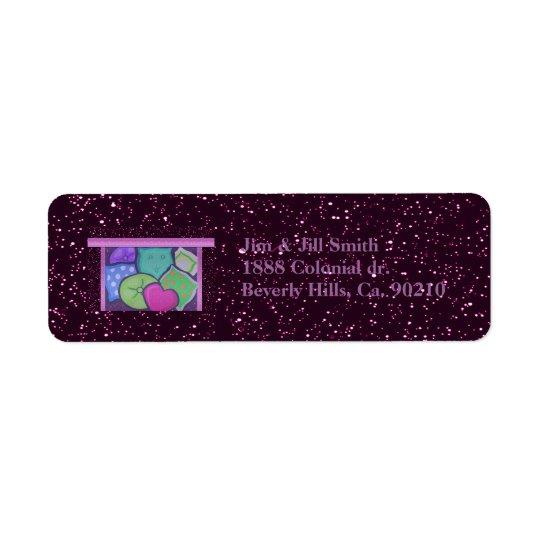 Slumber Pillow Party Return Address Label