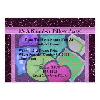 "Slumber Pillows Party 5"" X 7"" Invitation Card"