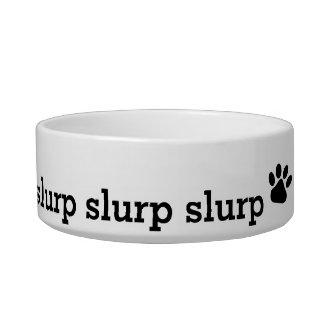 slurp pet water bowl with paw