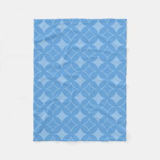 Sly blue shippo pattern fleece blanket