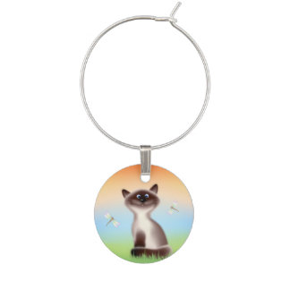 Sly Cat Wine Charms