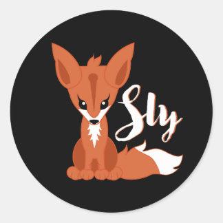 Sly Fox Classic Round Sticker