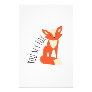Sly Fox Personalized Stationery
