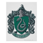 Slytherin Crest Green Poster