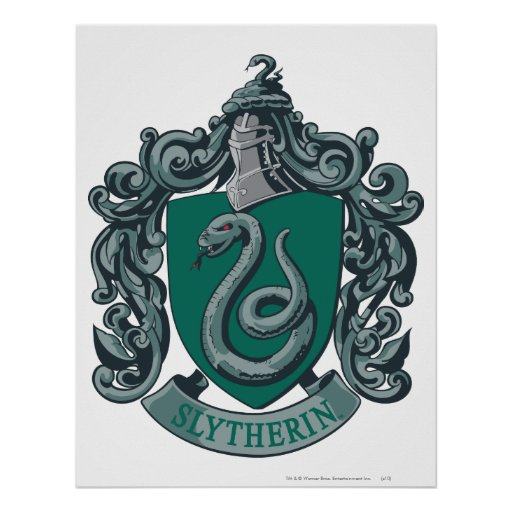 Slytherin Crest Green Print