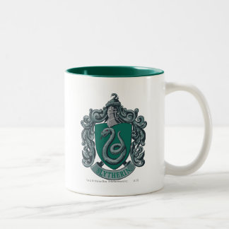 Slytherin Crest Green Two-Tone Coffee Mug