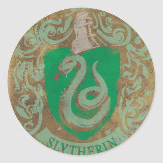 Slytherin Crest HPE6 Round Sticker