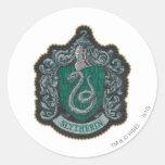 Slytherin Crest Round Sticker
