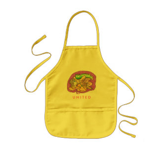 SM053, U N I T E D - Customized Kids Apron
