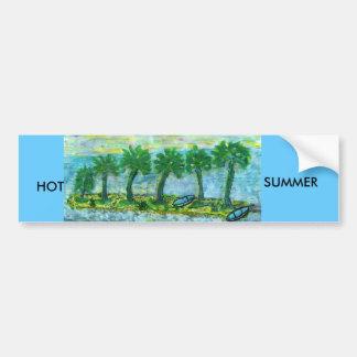 SM196, HOT, HOT, SUMMER CAR BUMPER STICKER