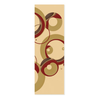 Sm. Modern Bubbles Bookmark - Beige Business Card Template