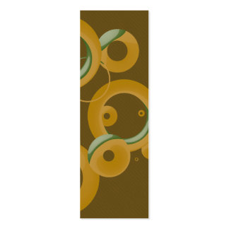 Sm. Modern Bubbles Bookmark - Olive Pack Of Skinny Business Cards