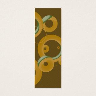Sm. Modern Bubbles Bookmark - Olive Mini Business Card
