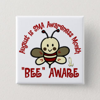 SMA Awareness Month August 4.3 15 Cm Square Badge