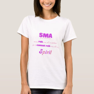 SMA Cannot Rob My Spirit - Pink & Purple T-Shirt