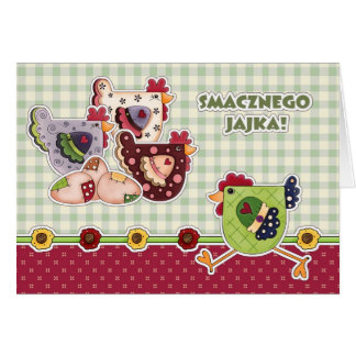 Smacznego Jajka. Customizable Polish Easter Cards