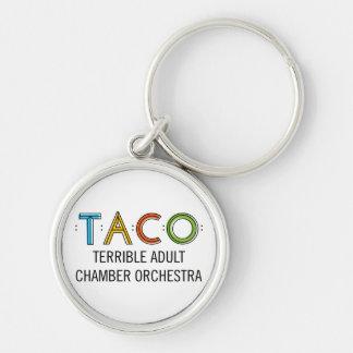 """Small (1.44"""") Premium Round TACO Keychain"""