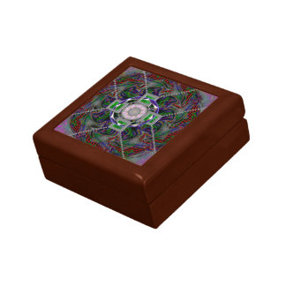 "Small 5.125"" Square w/4.25"" Tile Gift Box, Golden Small Square Gift Box"
