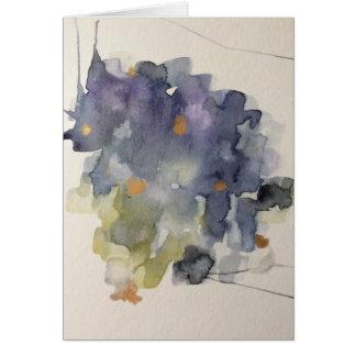small abstract original watercolor card