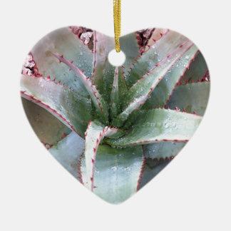 Small agave ceramic ornament