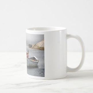 Small Anchored Boats Basic White Mug