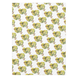 Small baby yellow chicken painted tablecloth