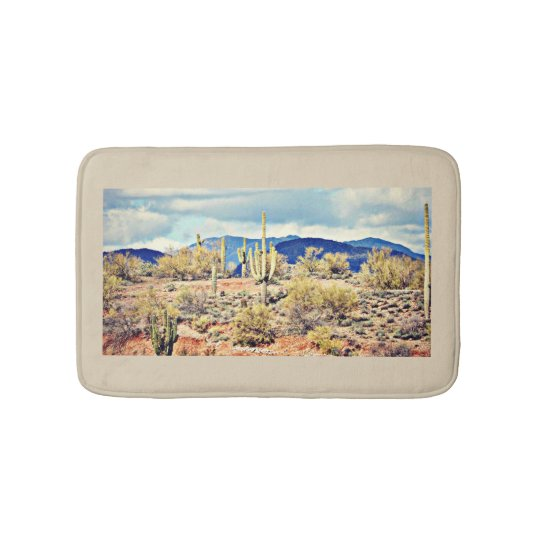 Small Bath Mat - Lake Pleasant Landscape