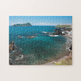 Small bay and islet jigsaw puzzle