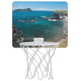 Small bay and islet mini basketball hoop