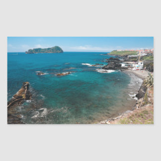 Small bay and islet rectangular sticker