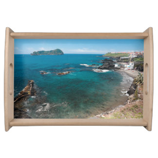 Small bay and islet serving tray