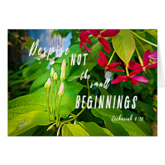 Small Beginnings Inspirational Blank Note Card