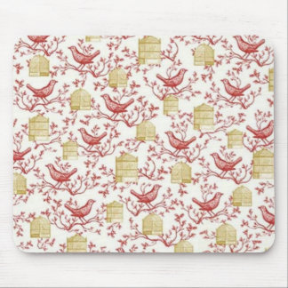 Small birds and Cages Mouse Pad