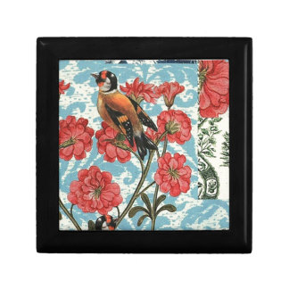 Small birds and flowers small square gift box