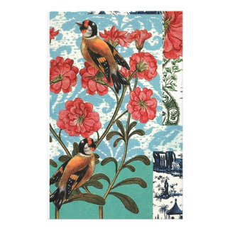 Small birds and flowers stationery