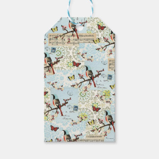 Small birds and music gift tags