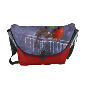 Small birds of winter courier bags