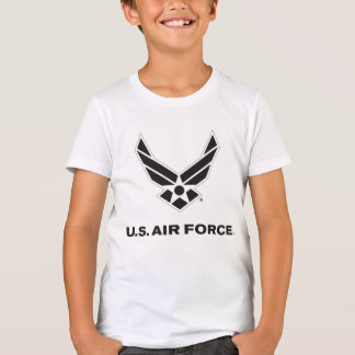 Small Black Air Force Logo with Outline Tees