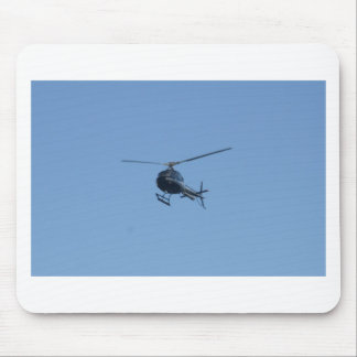 Small black helicopter. mouse pad