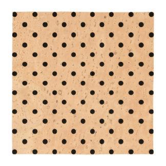 Small Black Polka dots Coasters