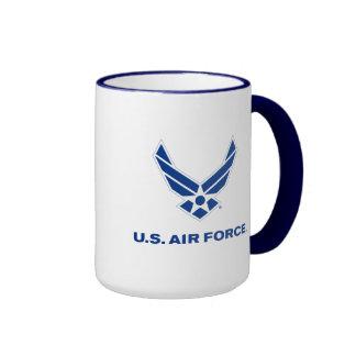 Small Blue Air Force Logo & Name Ringer Mug